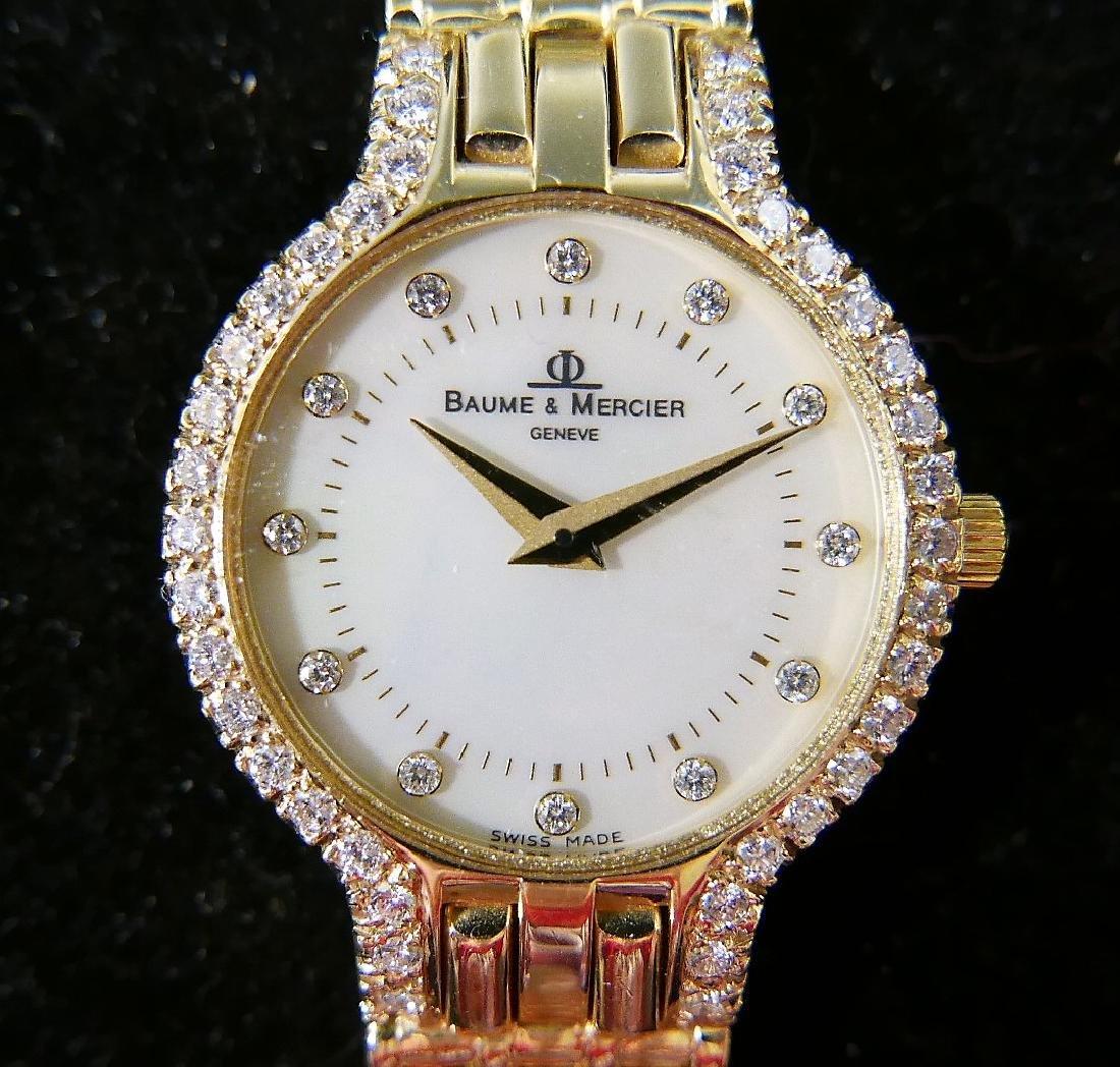 BAUME & MERCIER 14K GOLD DIAMOND WOMEN'S WATCH