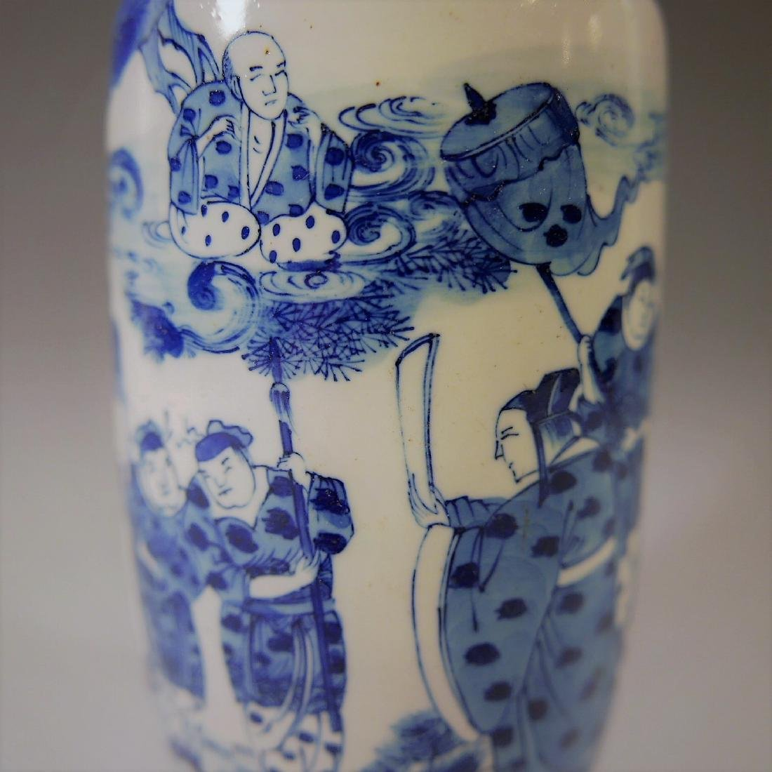 CHINESE ANTIQUE BLUE AND WHITE VASE - 18TH CENTURY - 4