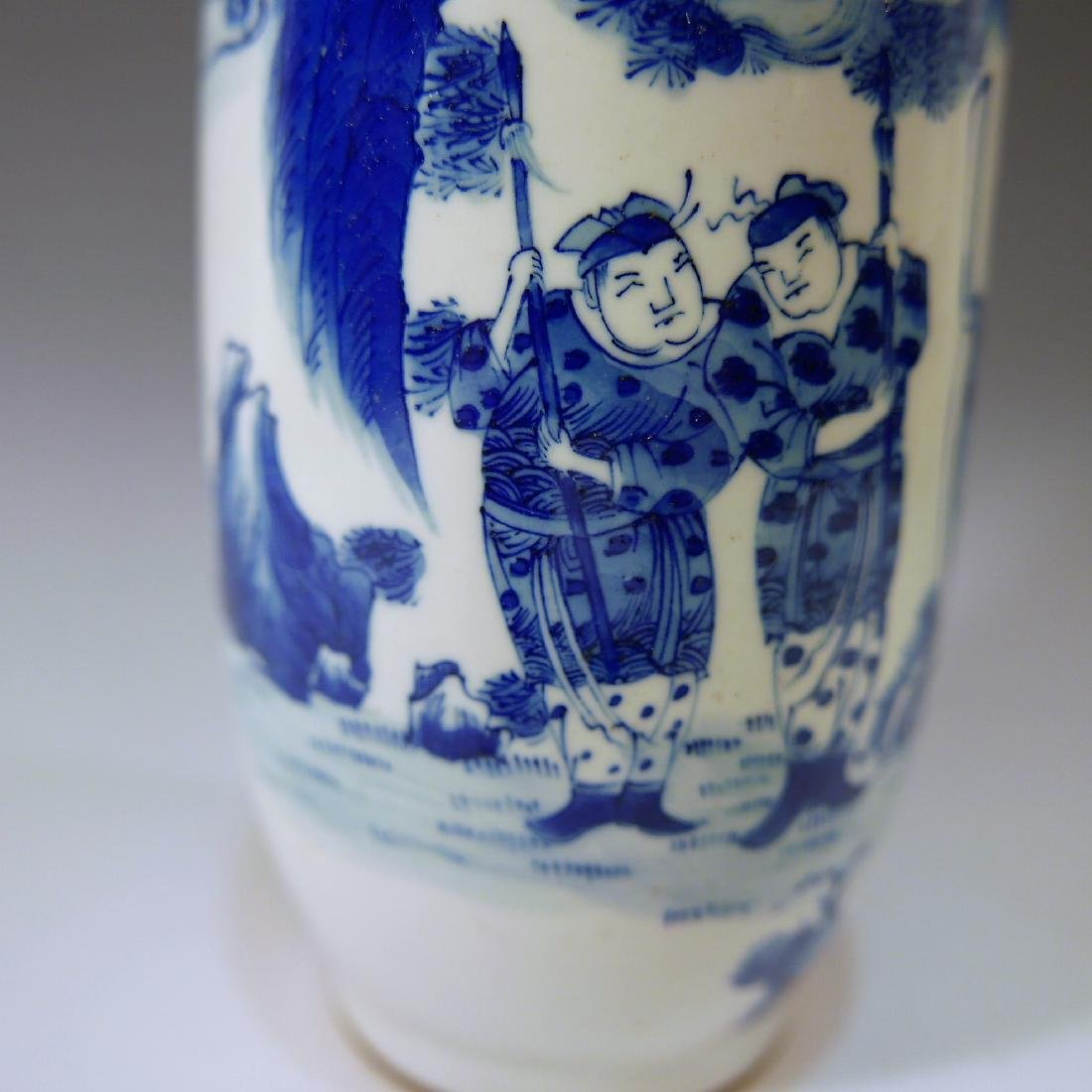 CHINESE ANTIQUE BLUE AND WHITE VASE - 18TH CENTURY - 5