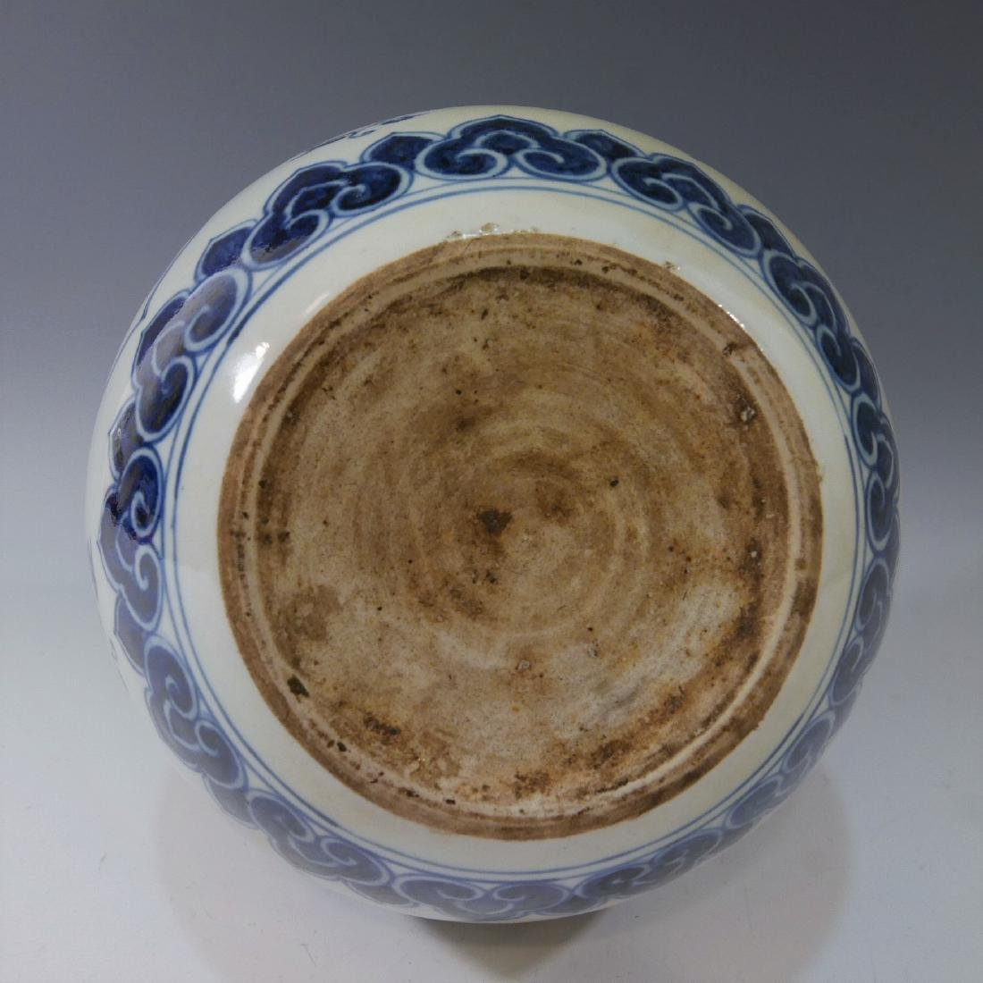 CHINESE ANTIQUE BLUE WHITE PORCELAIN BOTTLE VASE - - 3