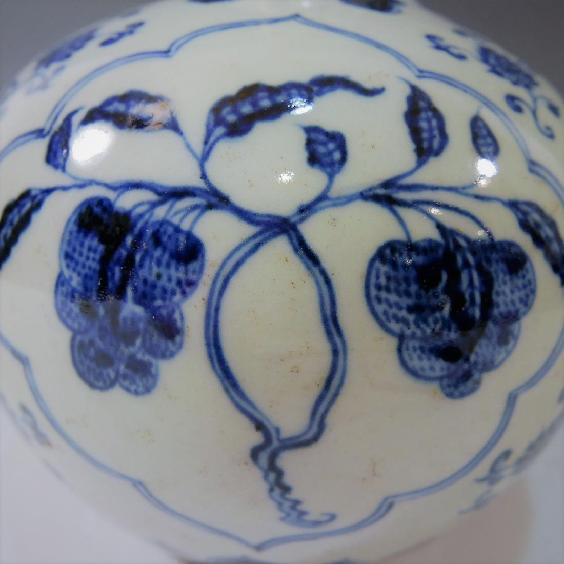 CHINESE ANTIQUE BLUE WHITE PORCELAIN BOTTLE VASE - - 7