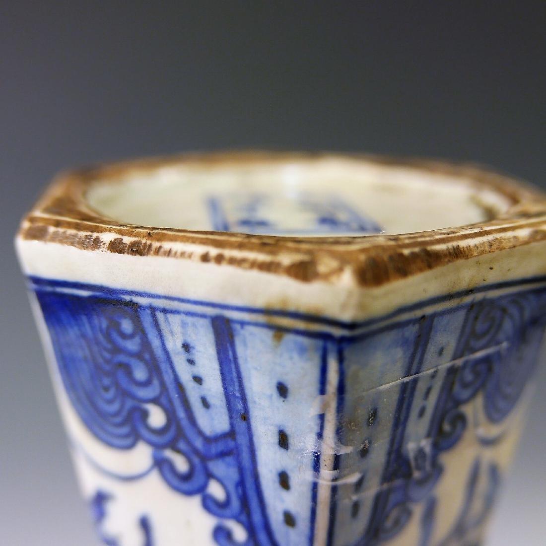 CHINESE ANTIQUE BLUE WHITE PHOENIX PORCELAIN VASE - - 3