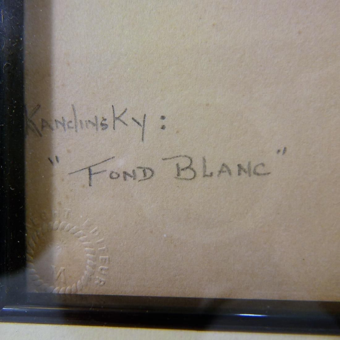 "WASSILY KANDINSKY (RUSSIAN, 1866 - 1944)  ""FOND BLANC"" - 2"