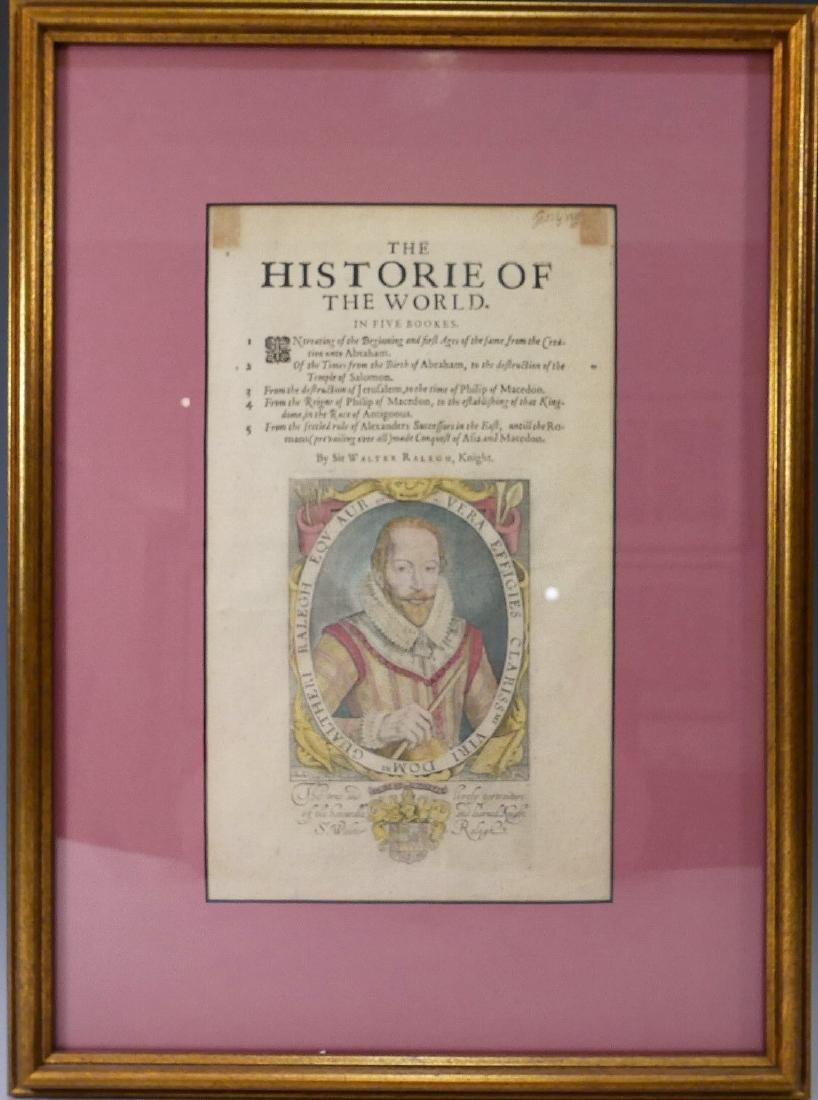 SIR WALTER RALEGH (ENGLISH, 1554 - 1618) HISTORY OF THE