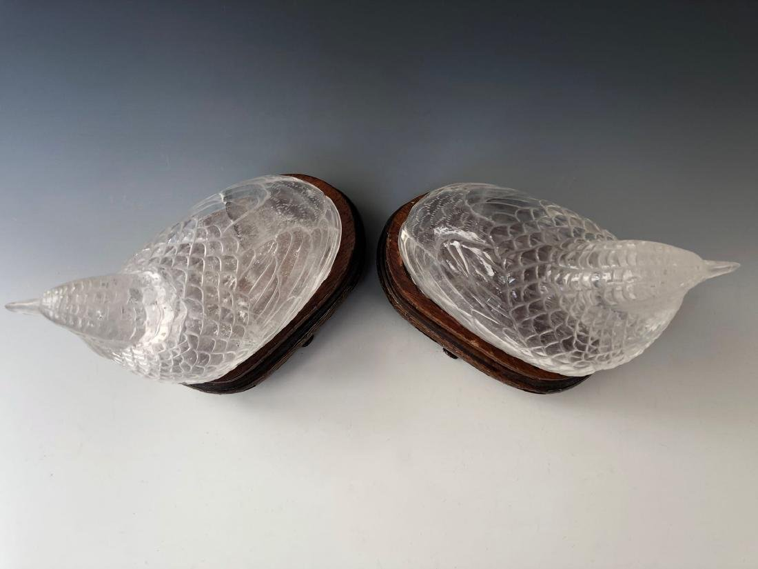 A PAIR OF RARE CHINESE ANTIQUE CRYSTAL BIRD BOX. QING - 6