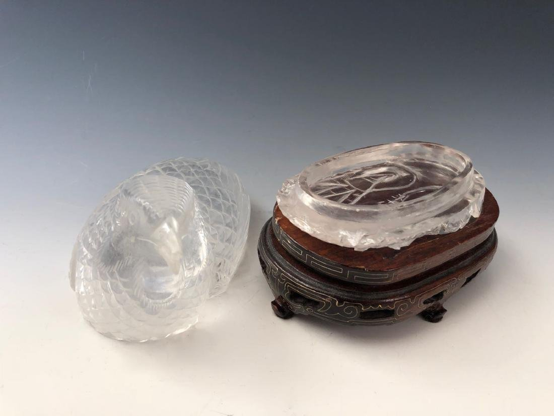 A PAIR OF RARE CHINESE ANTIQUE CRYSTAL BIRD BOX. QING - 9