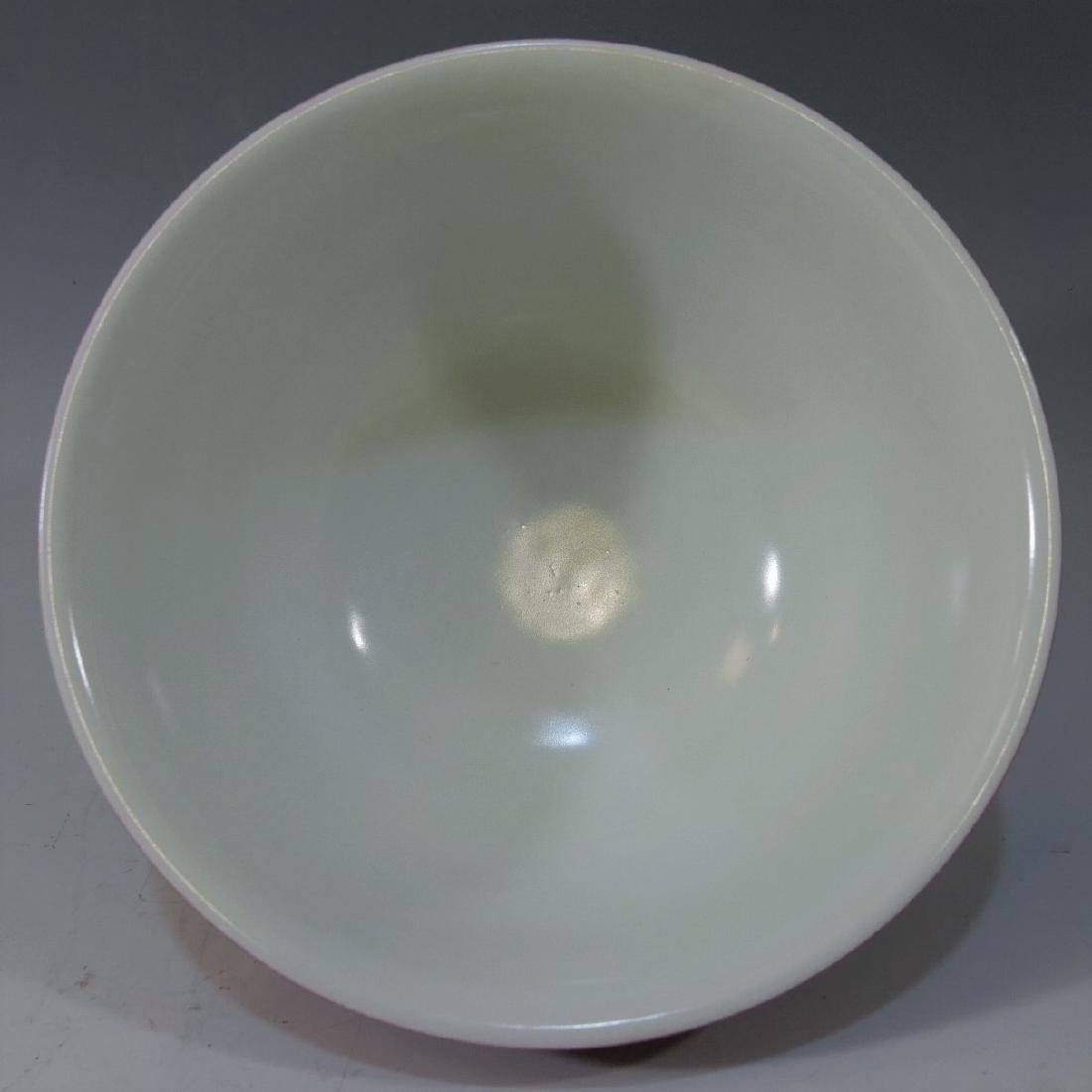 CHINESE ANTIQUE RUBY RED GLAZE BOWL XIANFENG MARK - 3