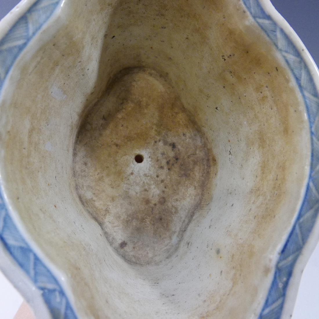 CHINESE ANTIQUE BLUE WHITE JARDINIERE - QING DYNASTY - 5
