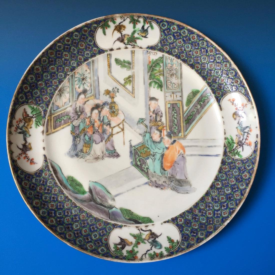 A BEAUTIFUL CHINESE ANTIQUE PLATE,19C.