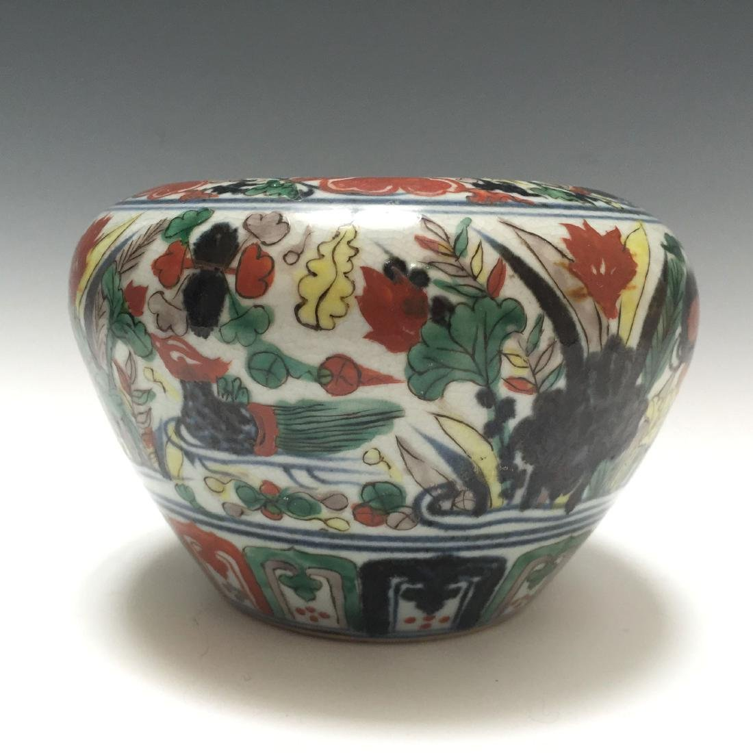 A CHINESE WUCAI PORCELAIN BOWL, MARKED. - 3