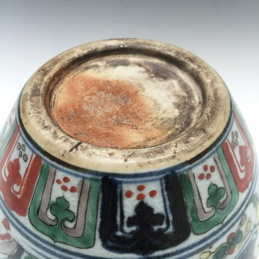 A CHINESE WUCAI PORCELAIN BOWL, MARKED. - 4