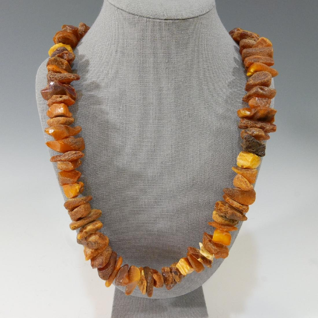 LARGE NATURAL BALTIC AMBER MILA NECKLACE