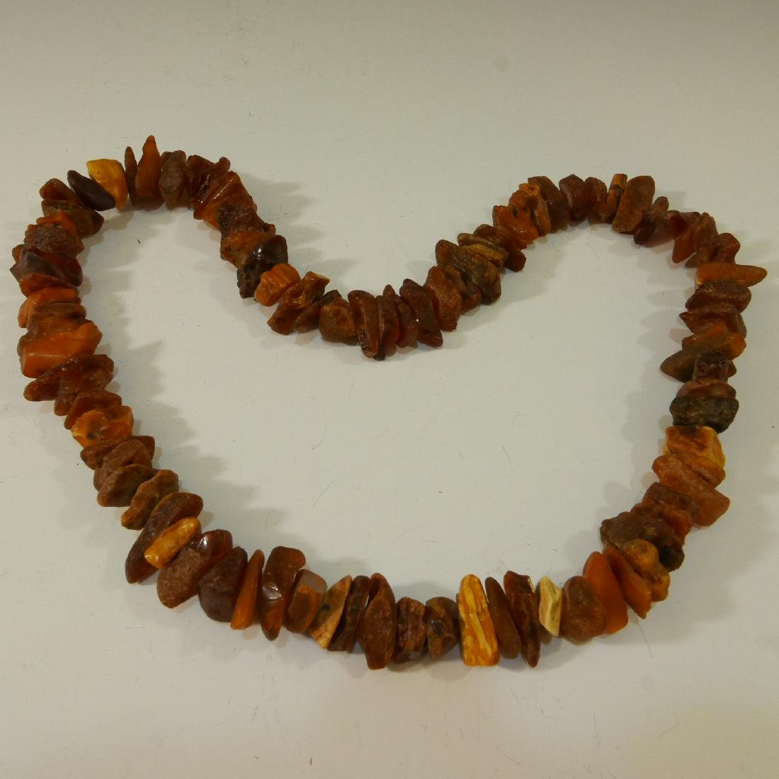 LARGE NATURAL BALTIC AMBER MILA NECKLACE - 2