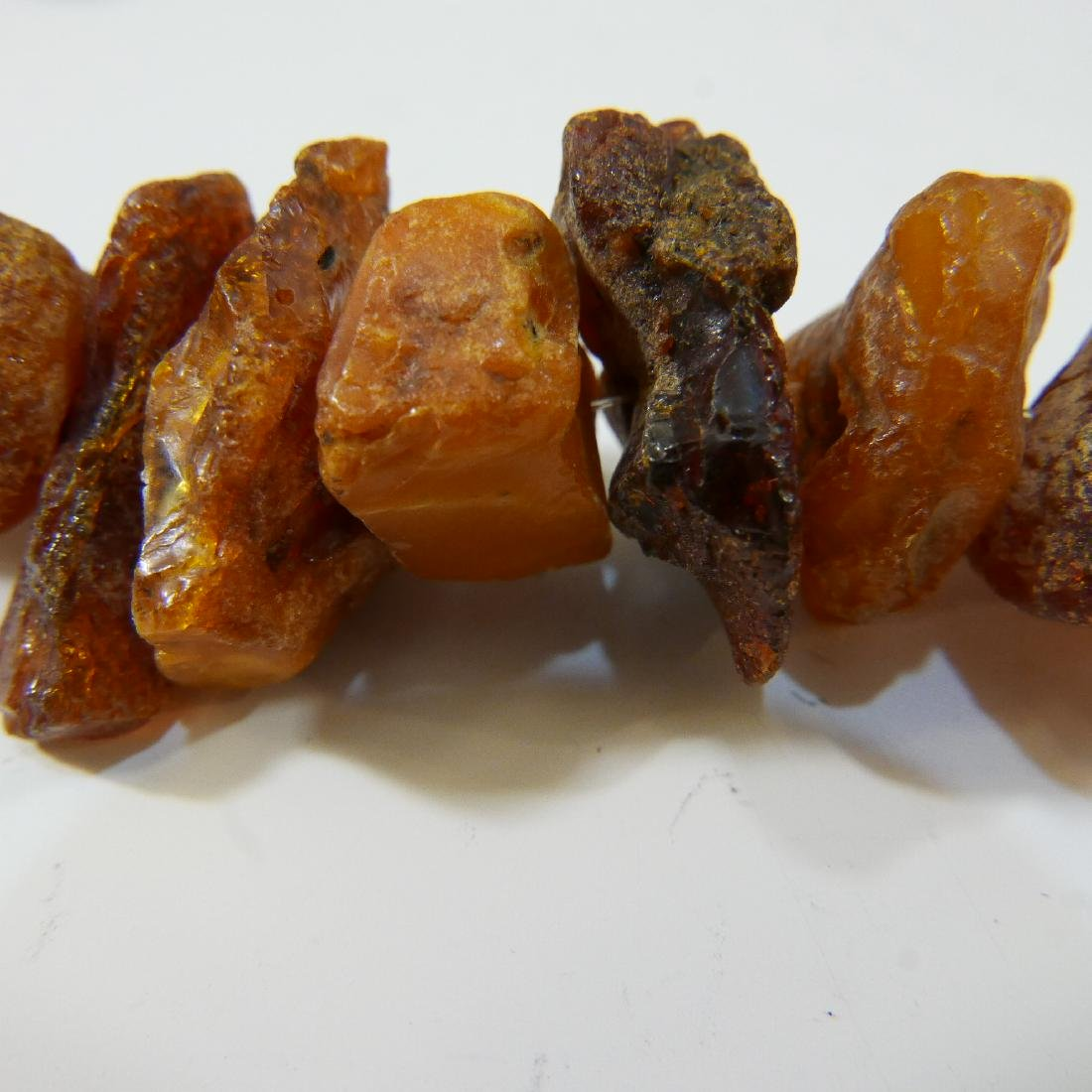 LARGE NATURAL BALTIC AMBER MILA NECKLACE - 5
