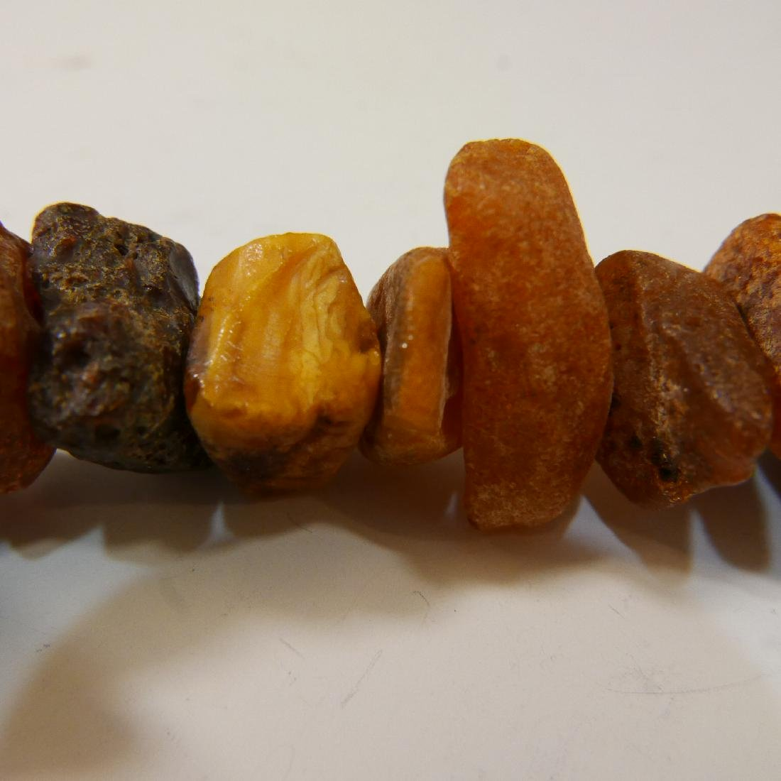 LARGE NATURAL BALTIC AMBER MILA NECKLACE - 6