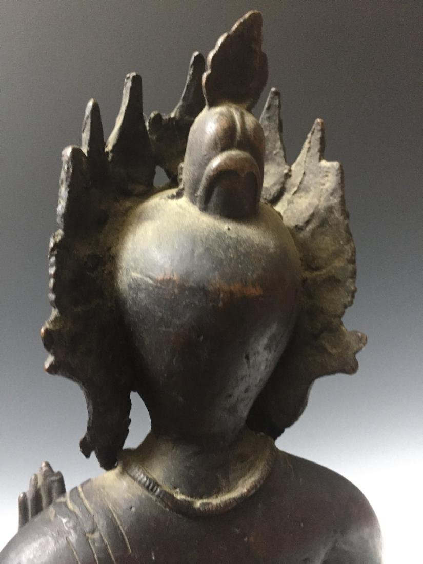 CHINESE ANTIQUE BRONZE OF GUANYIN - 7