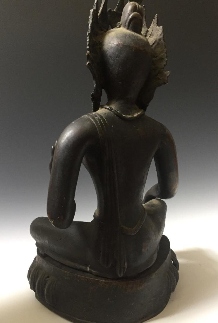 CHINESE ANTIQUE BRONZE OF GUANYIN - 8