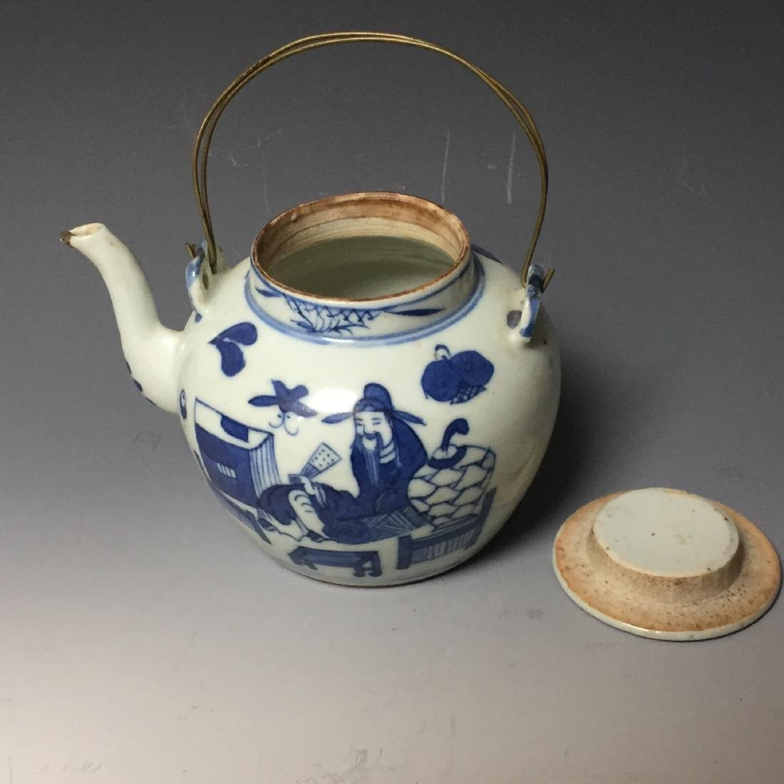 A SET OF CHINESE ANTIQUE BLUE AND WHITE PLATE AND - 3