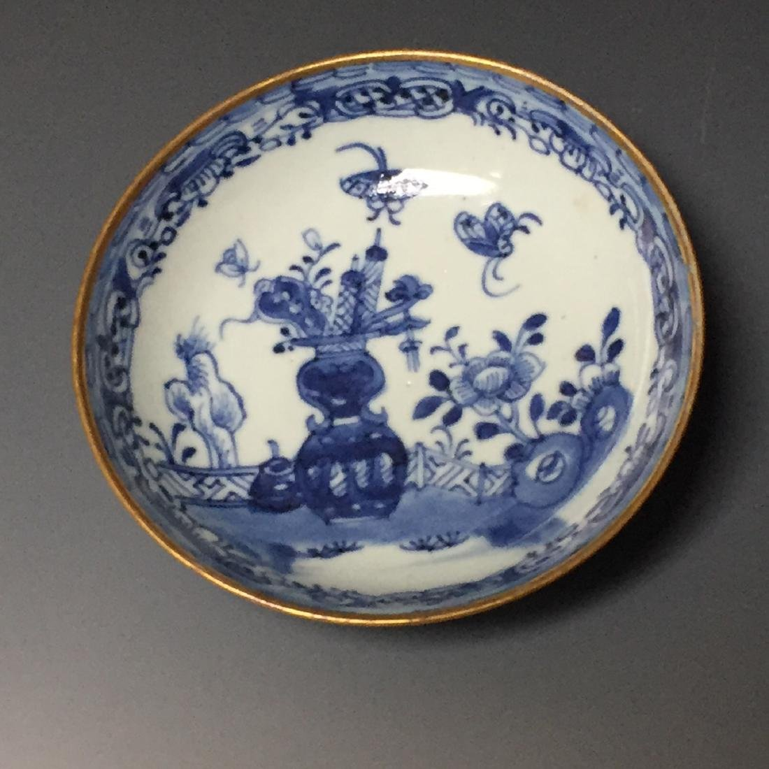 A SET OF CHINESE ANTIQUE BLUE AND WHITE PLATE AND - 4
