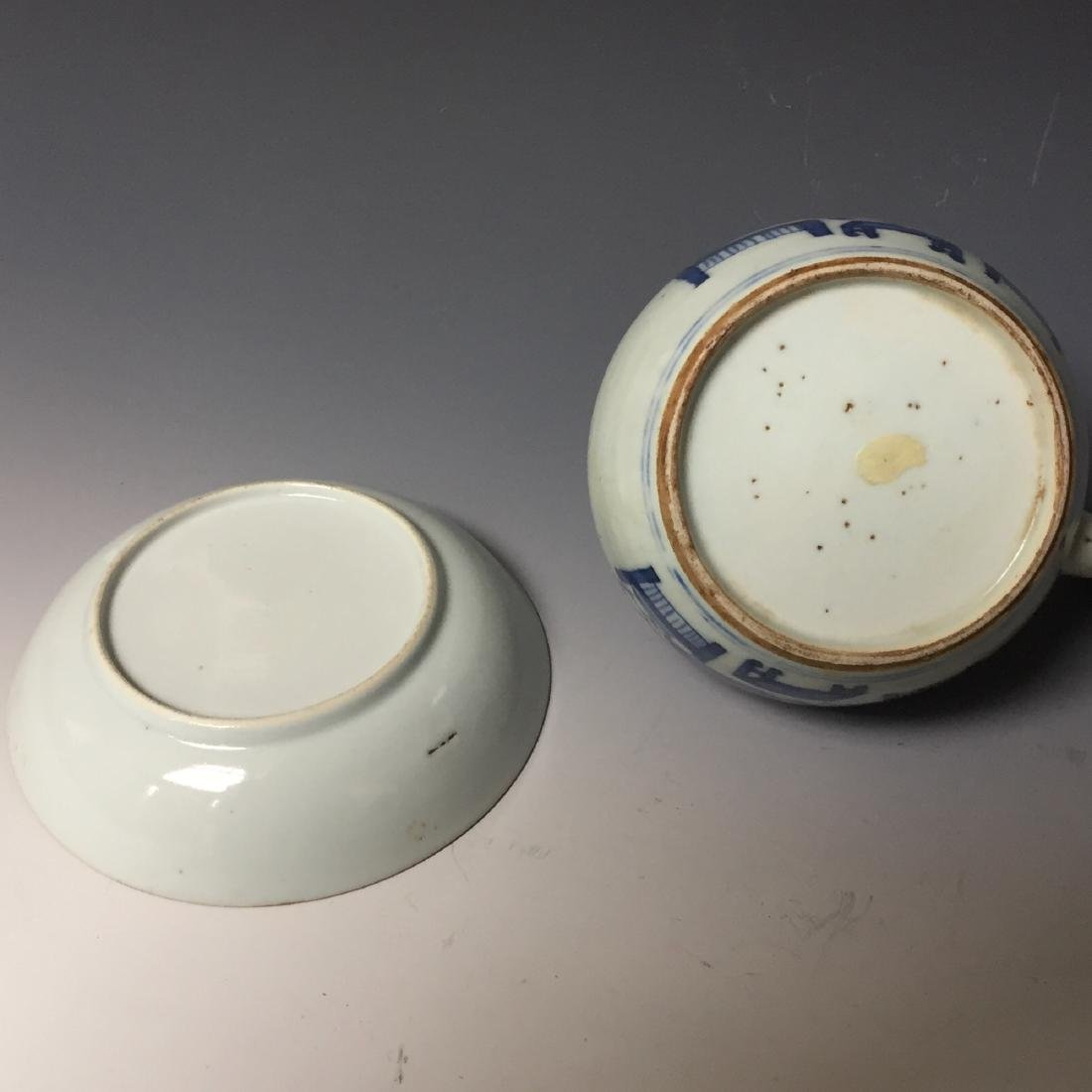 A SET OF CHINESE ANTIQUE BLUE AND WHITE PLATE AND - 5