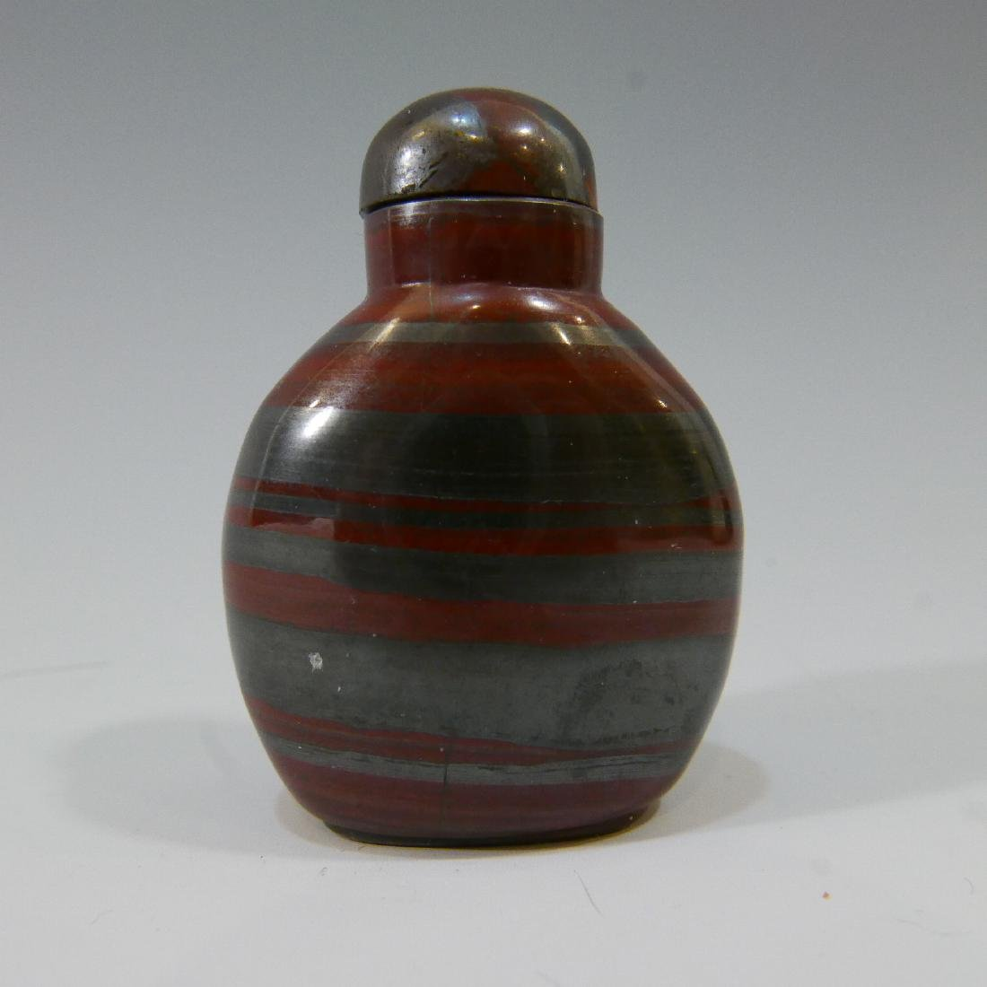 CHINESE ANTIQUE SNUFF BOTTLE - AGATE - QING DYNASTY - 2