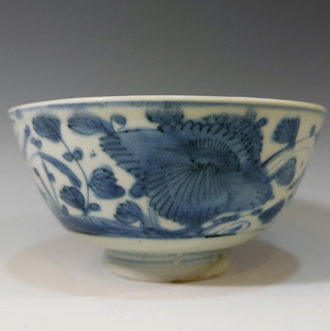 CHINESE ANTIQUE BLUE WHITE PORCELAIN BOWL - MING