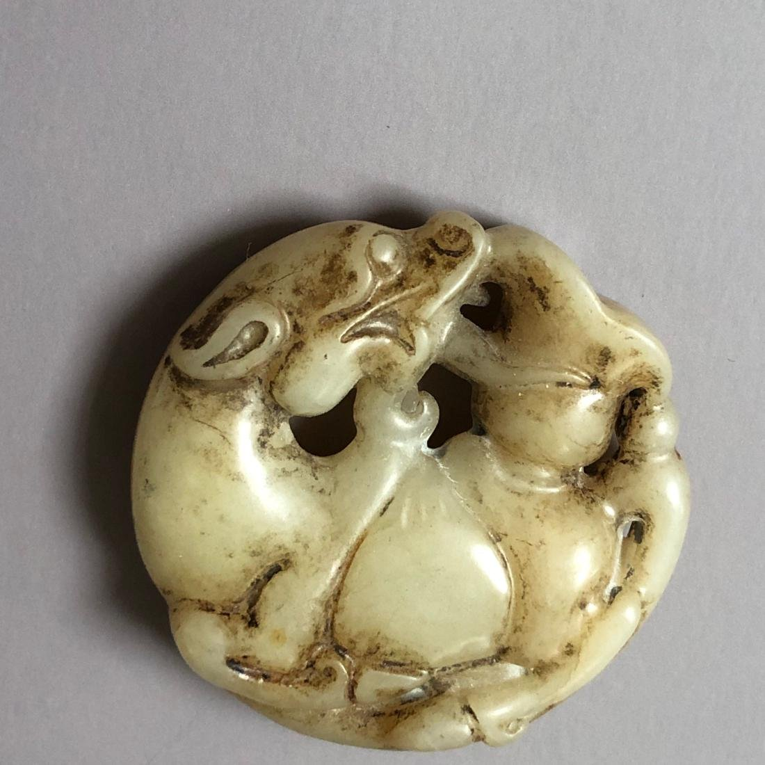 CHINESE ANTIQUE JADE CARVING - 2