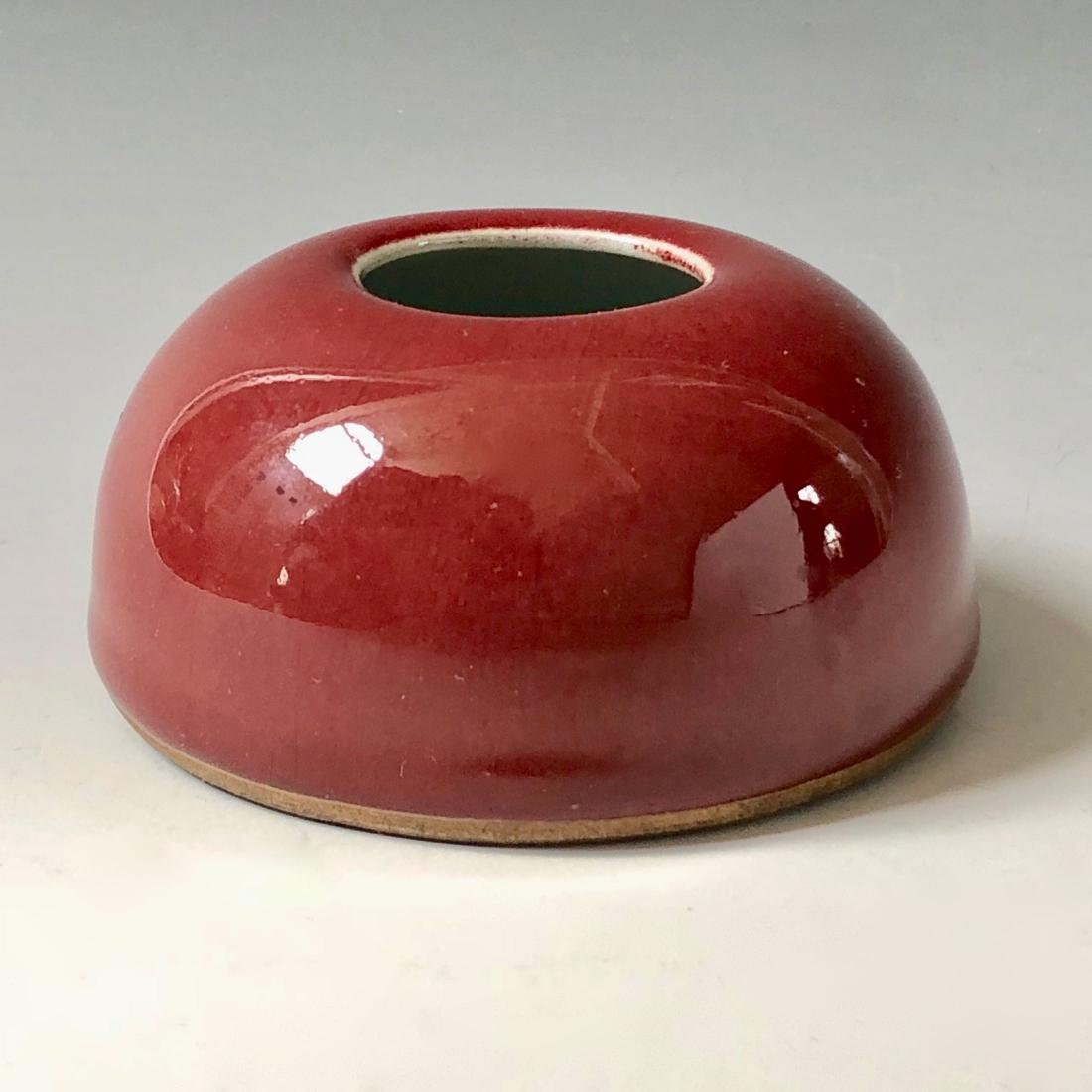 CHINESE ANTIQUE RED GLAZED WATERPOT