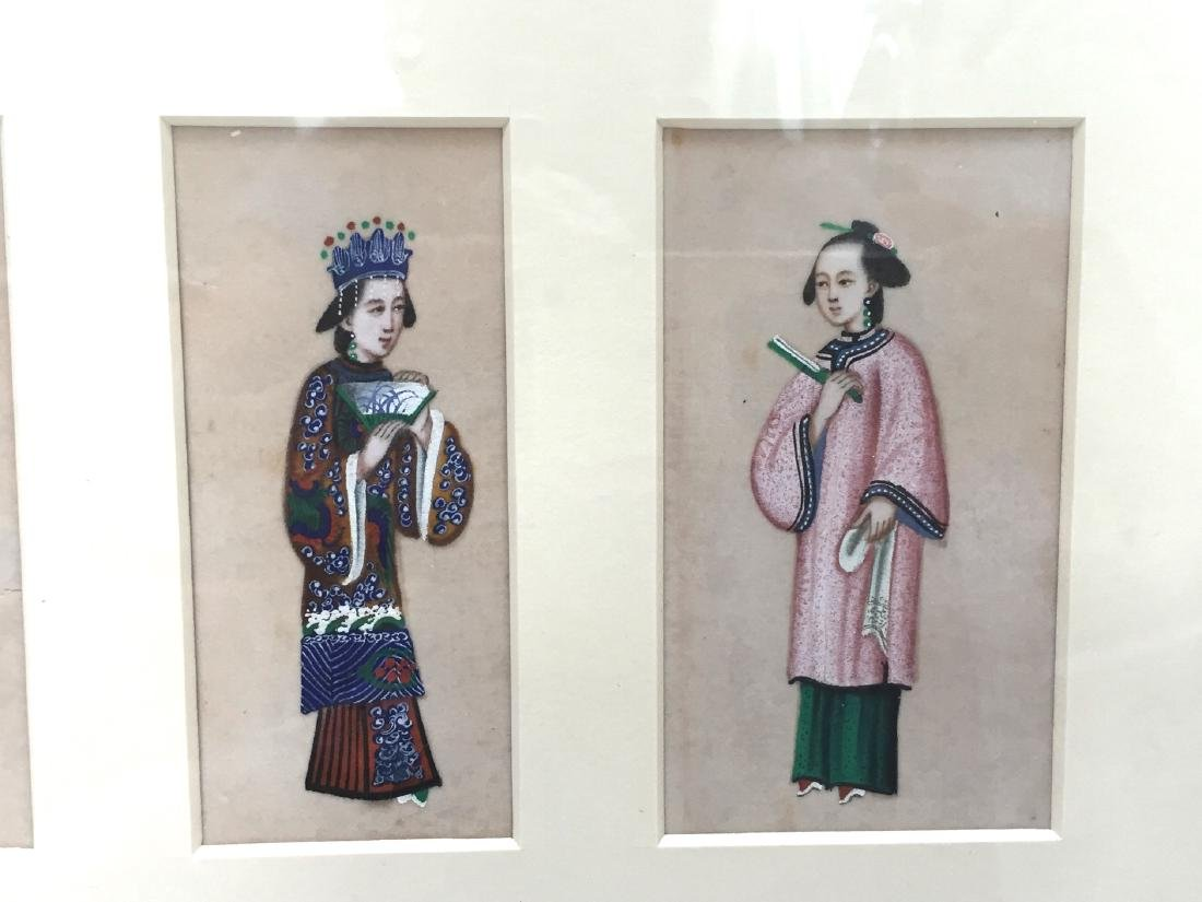 CHINESE ANTIQUE PAINTING ON RICE PAPER - 2
