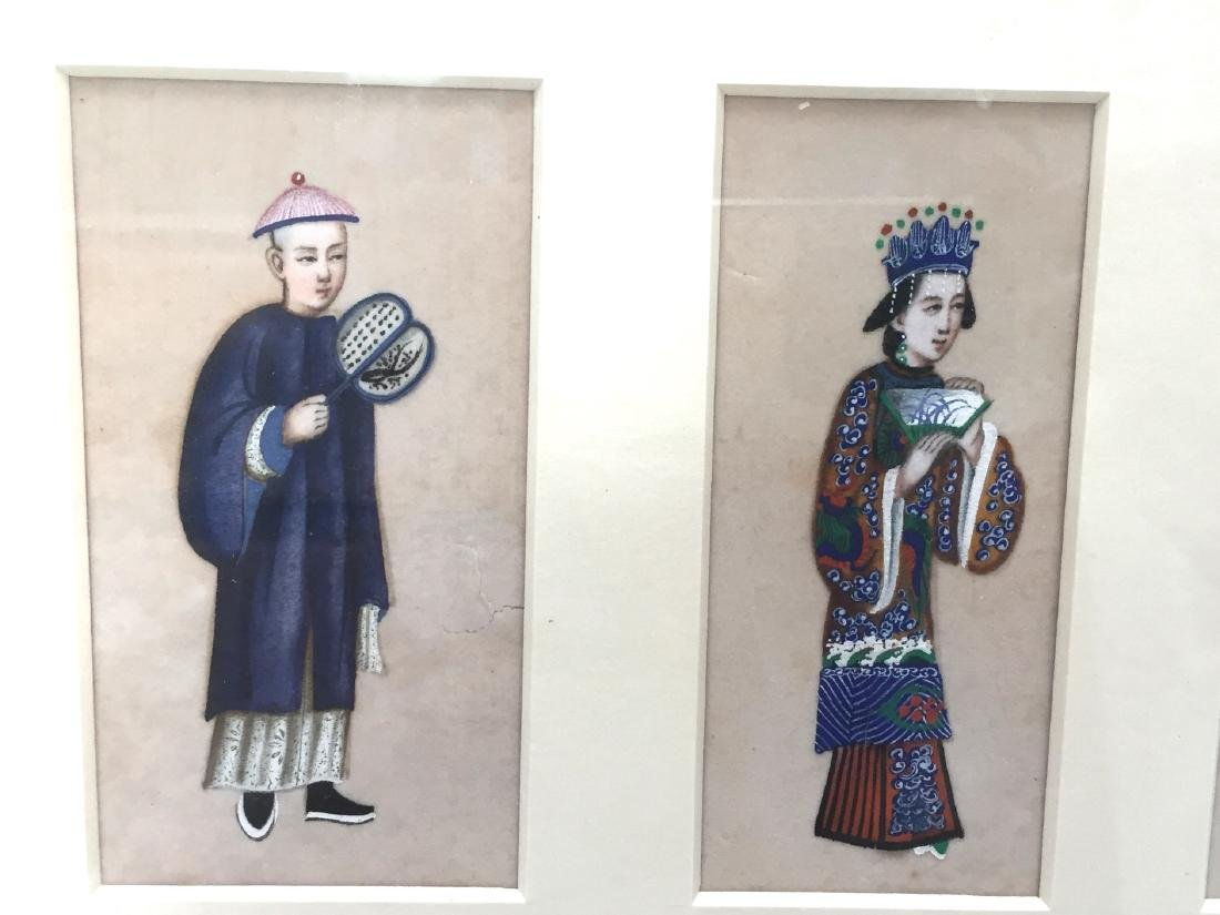 CHINESE ANTIQUE PAINTING ON RICE PAPER - 3