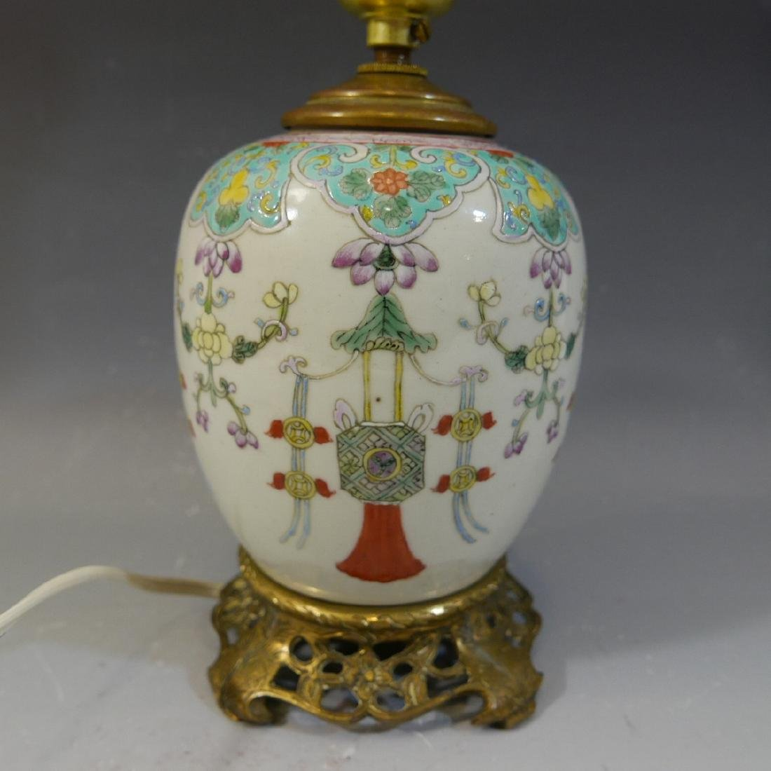 ANTIQUE CHINESE FAMILLE ROSE PORCELAIN VASE - QING