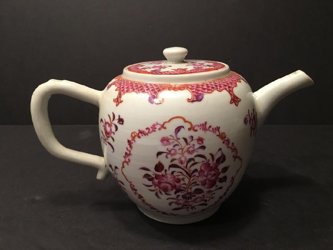 ANTIQUE Chinese Large Famille Rose Teapot, 18th