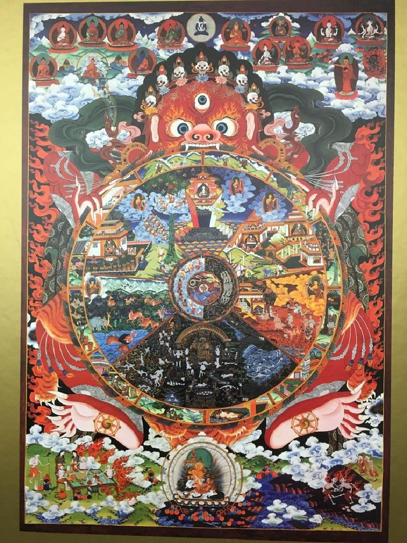"Asian Thanka Gallery Book, 24 1/2"" x 17"" wide. 60 - 3"
