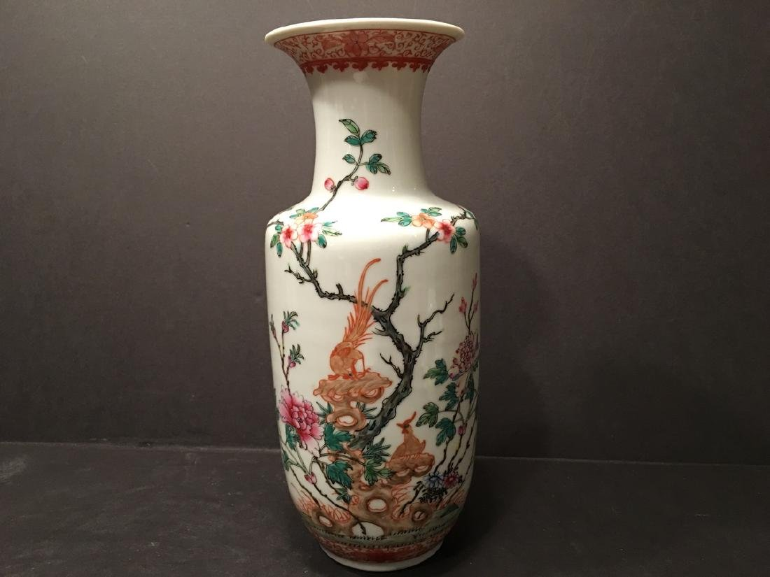 ANTIQUE Chinese Famille Rose Vase, Republic Period.