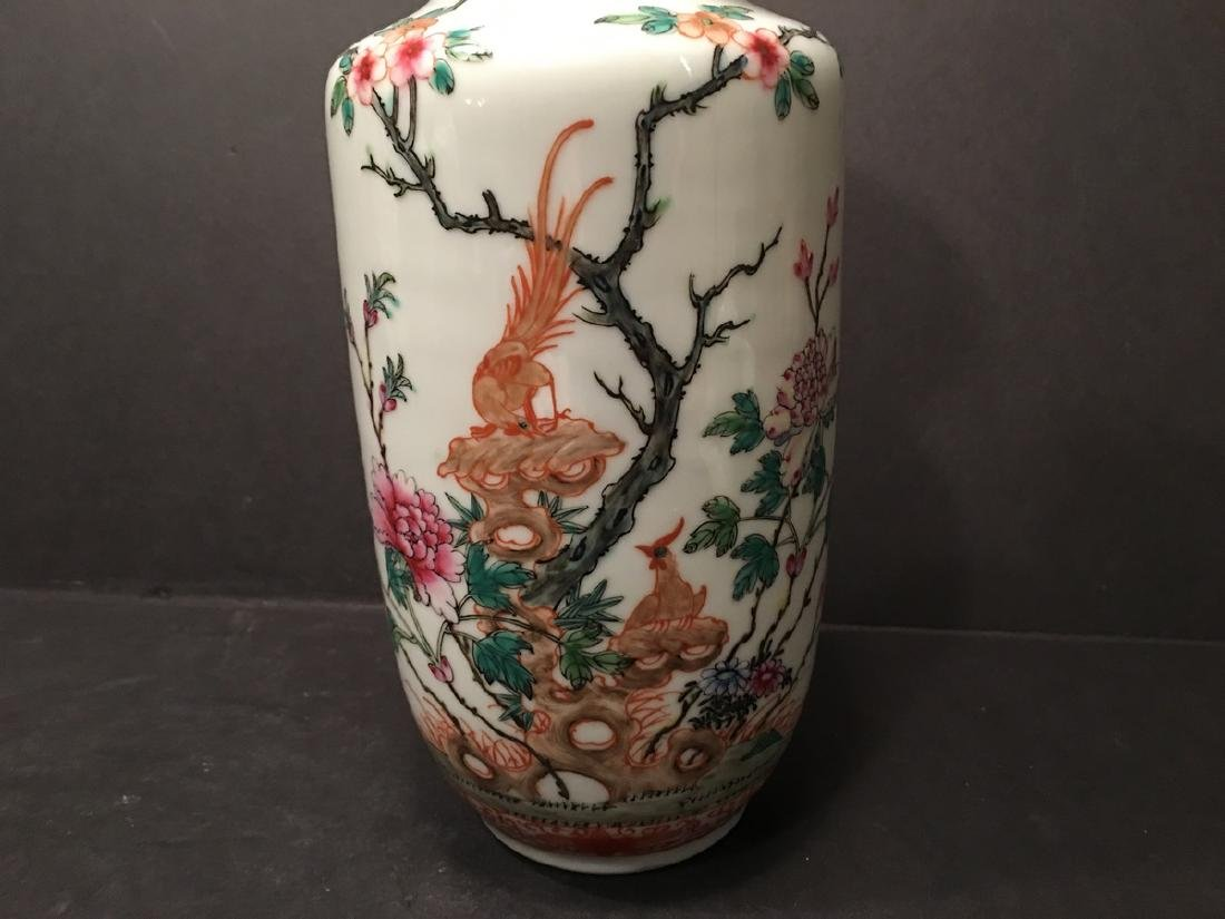 ANTIQUE Chinese Famille Rose Vase, Republic Period. - 2