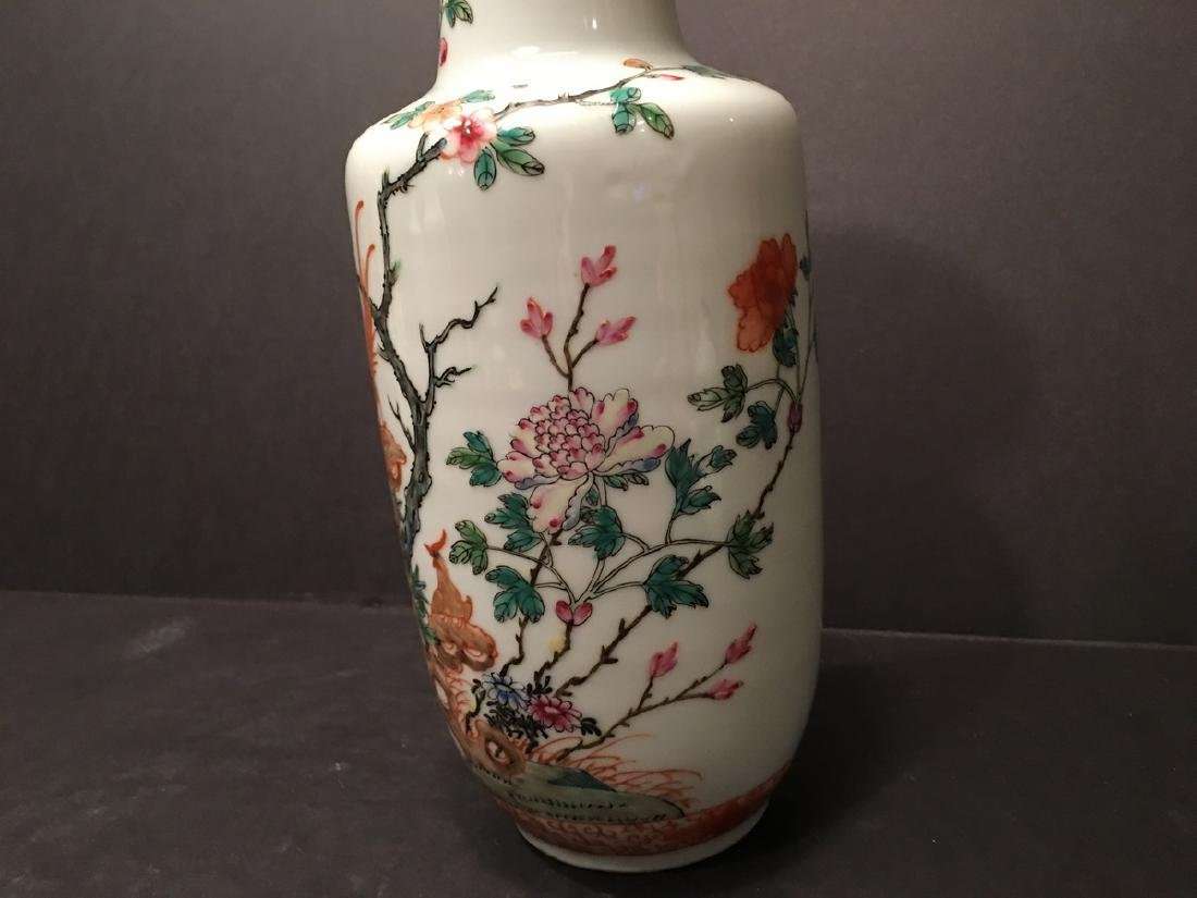 ANTIQUE Chinese Famille Rose Vase, Republic Period. - 6