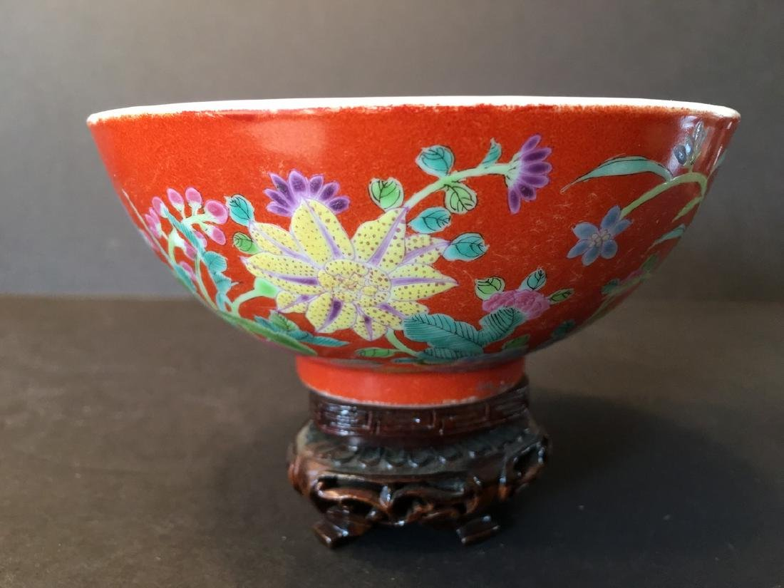 ANTIQUE Important  ChineseFamille Rose Flower Bowl,