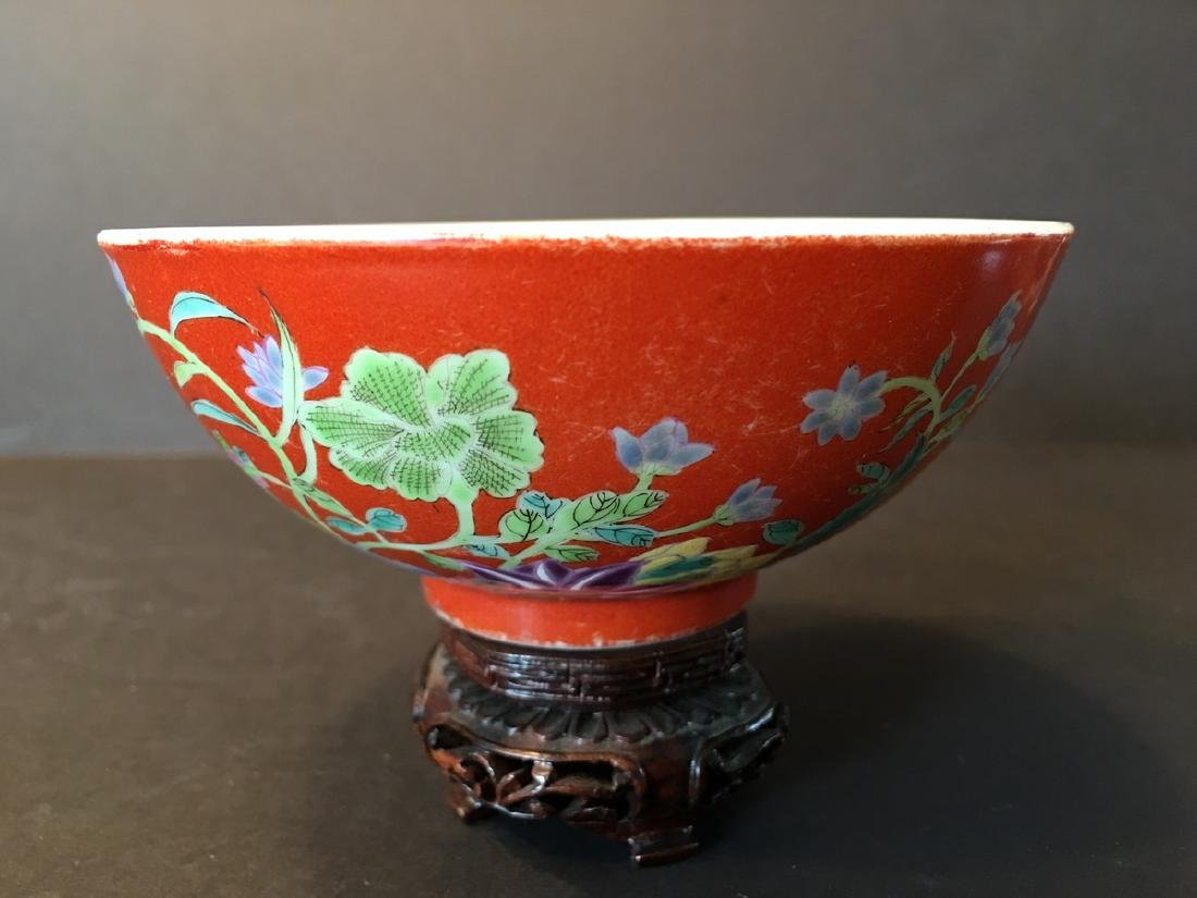 ANTIQUE Important  ChineseFamille Rose Flower Bowl, - 2