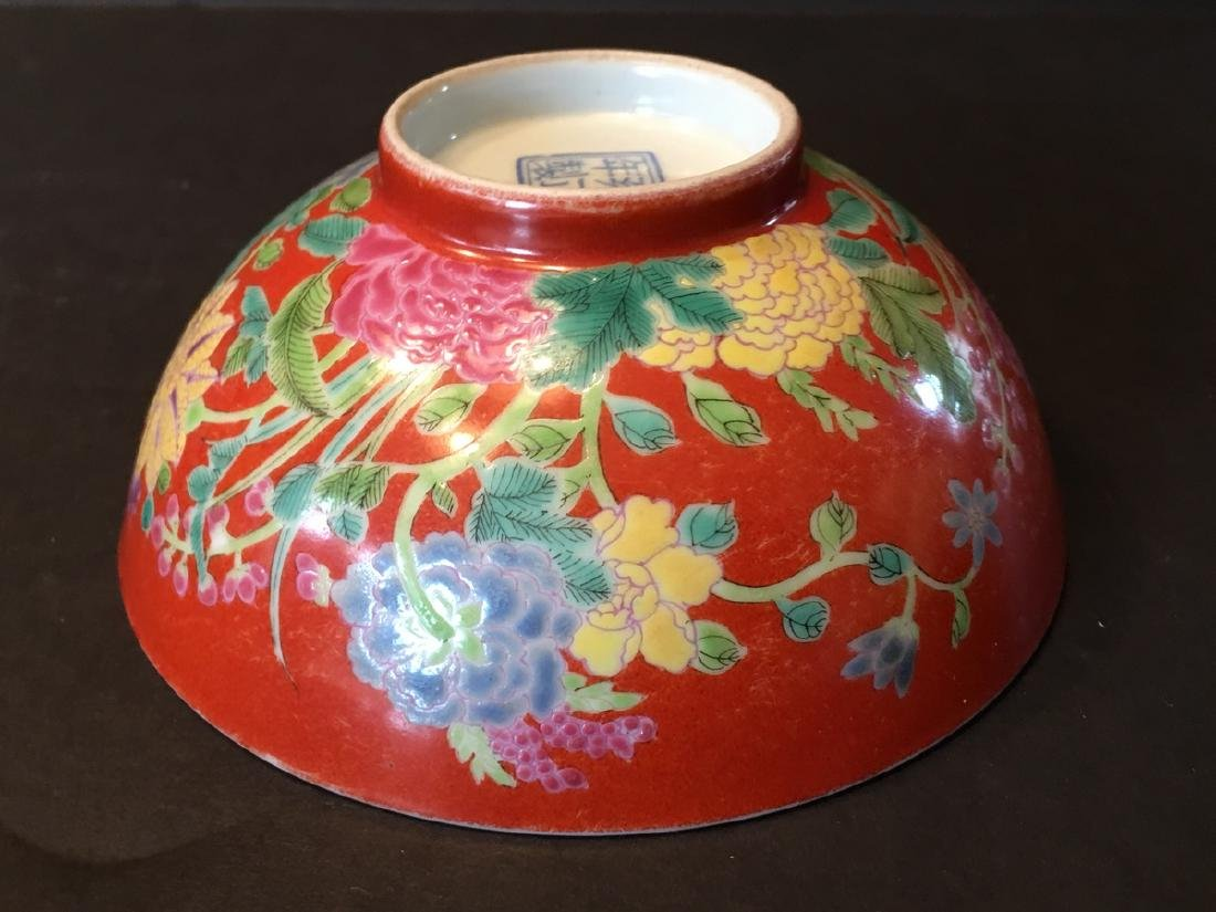 ANTIQUE Important  ChineseFamille Rose Flower Bowl, - 7