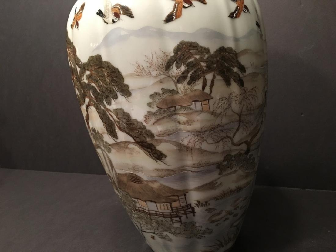 "OLD Japanese Kutani Vase, 12 1/2"" high. 19th century, - 2"