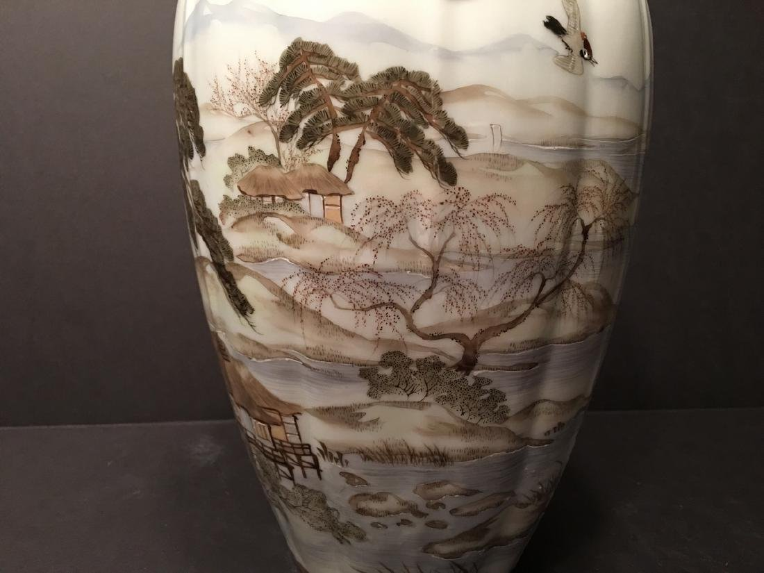 "OLD Japanese Kutani Vase, 12 1/2"" high. 19th century, - 5"
