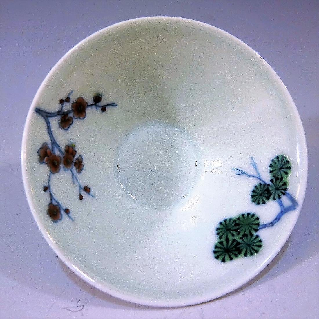 IMPERIAL CHINESE ANTIQUE DOUCAI PORCELAIN CUP - - 3