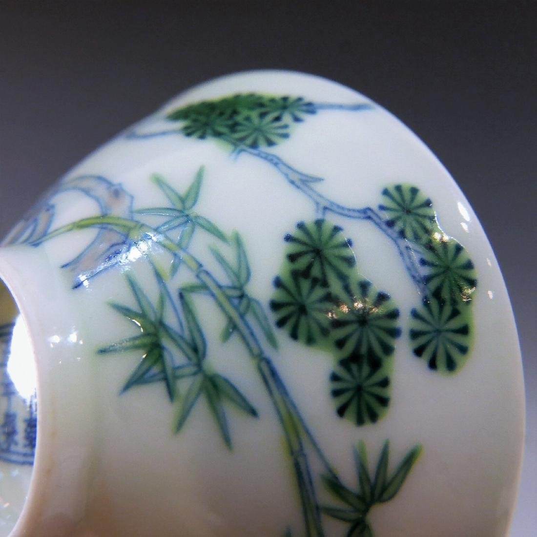 IMPERIAL CHINESE ANTIQUE DOUCAI PORCELAIN CUP - - 7