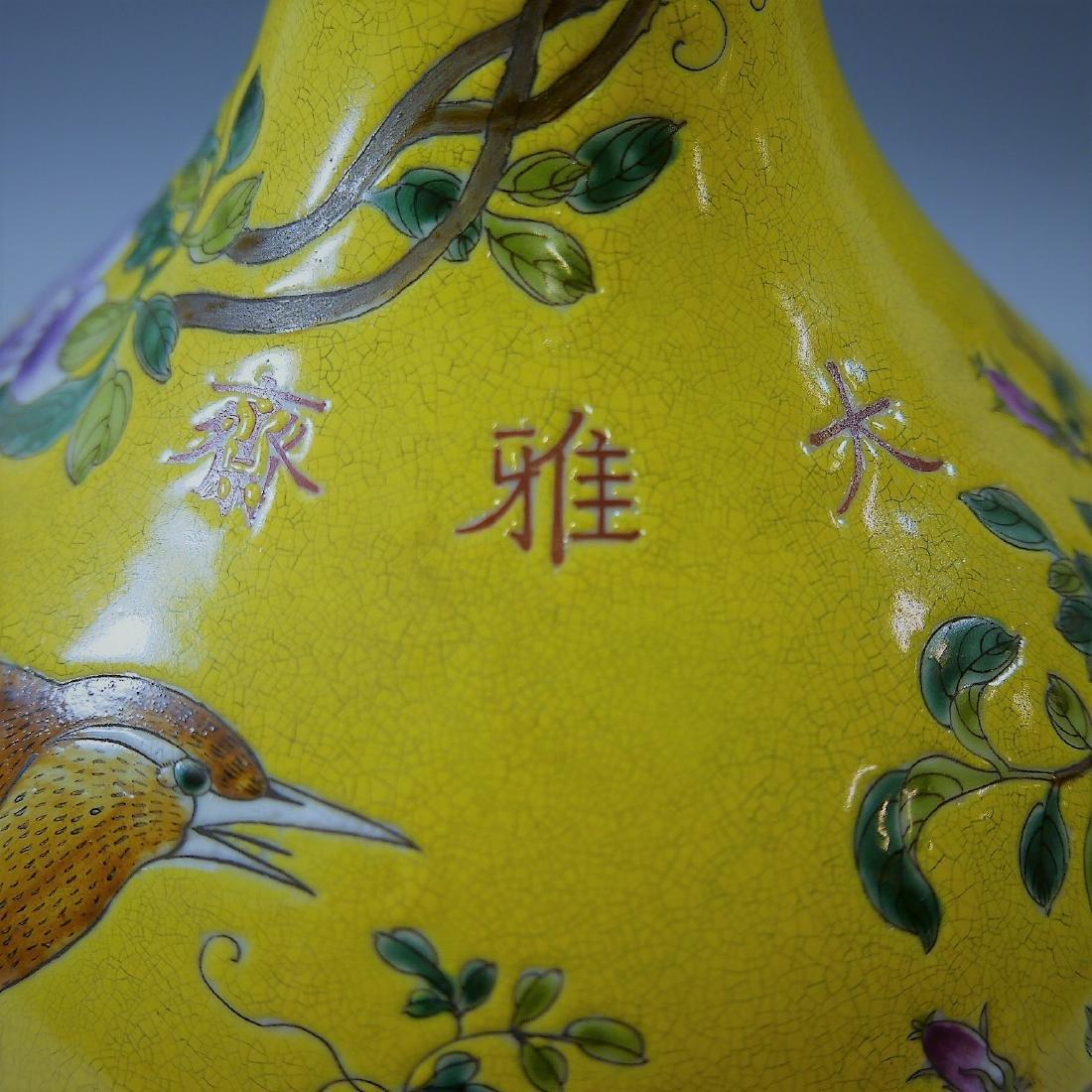CHINESE ANTIQUE FAMILLE ROSE PORCELAIN VASE - DAYAZHAI - 5