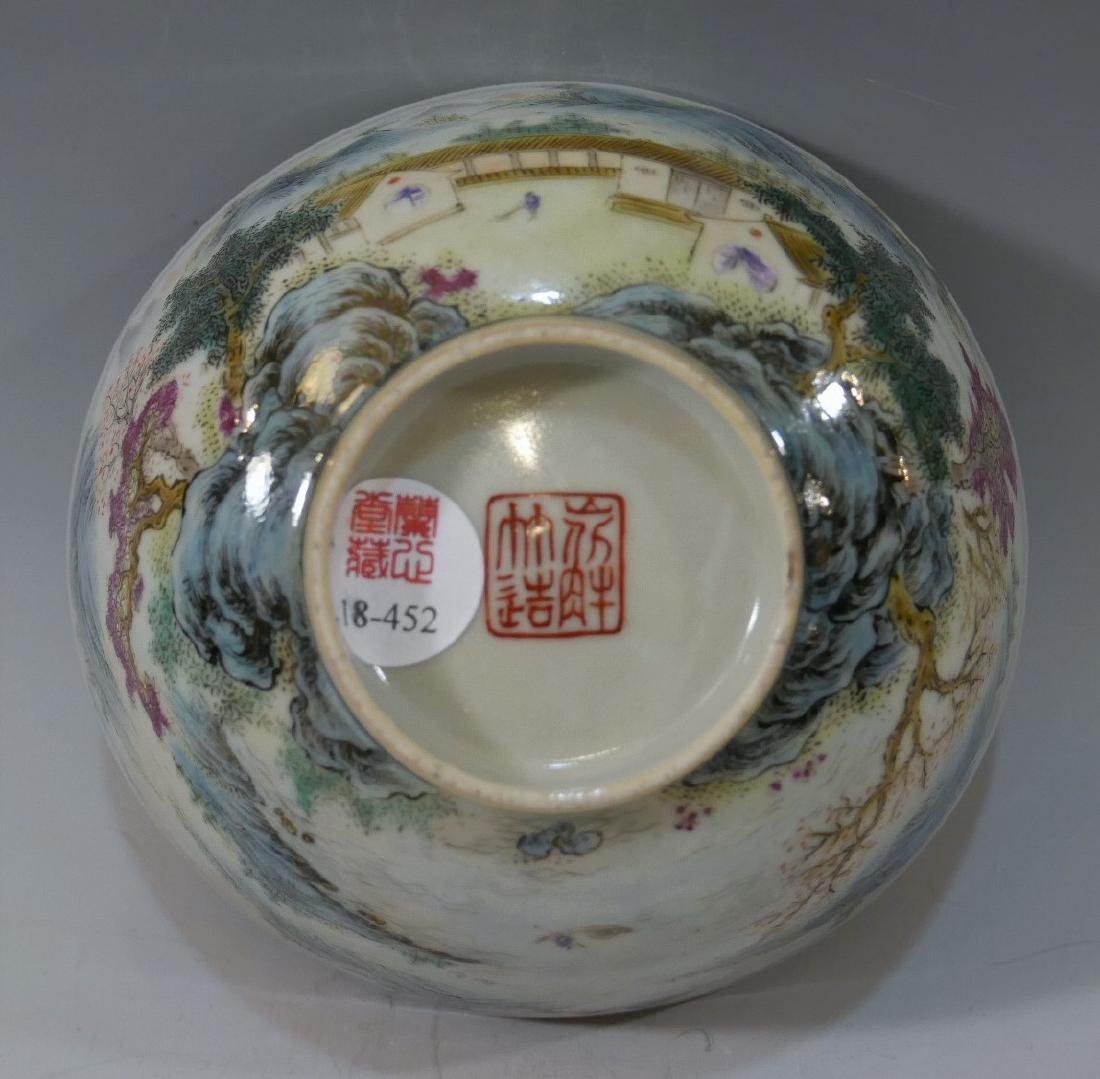 CHINESE ANTIQUE FAMILLE ROSE PORCELAIN BOWL - 19TH