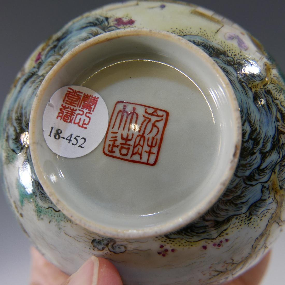 CHINESE ANTIQUE FAMILLE ROSE PORCELAIN BOWL - 19TH - 6