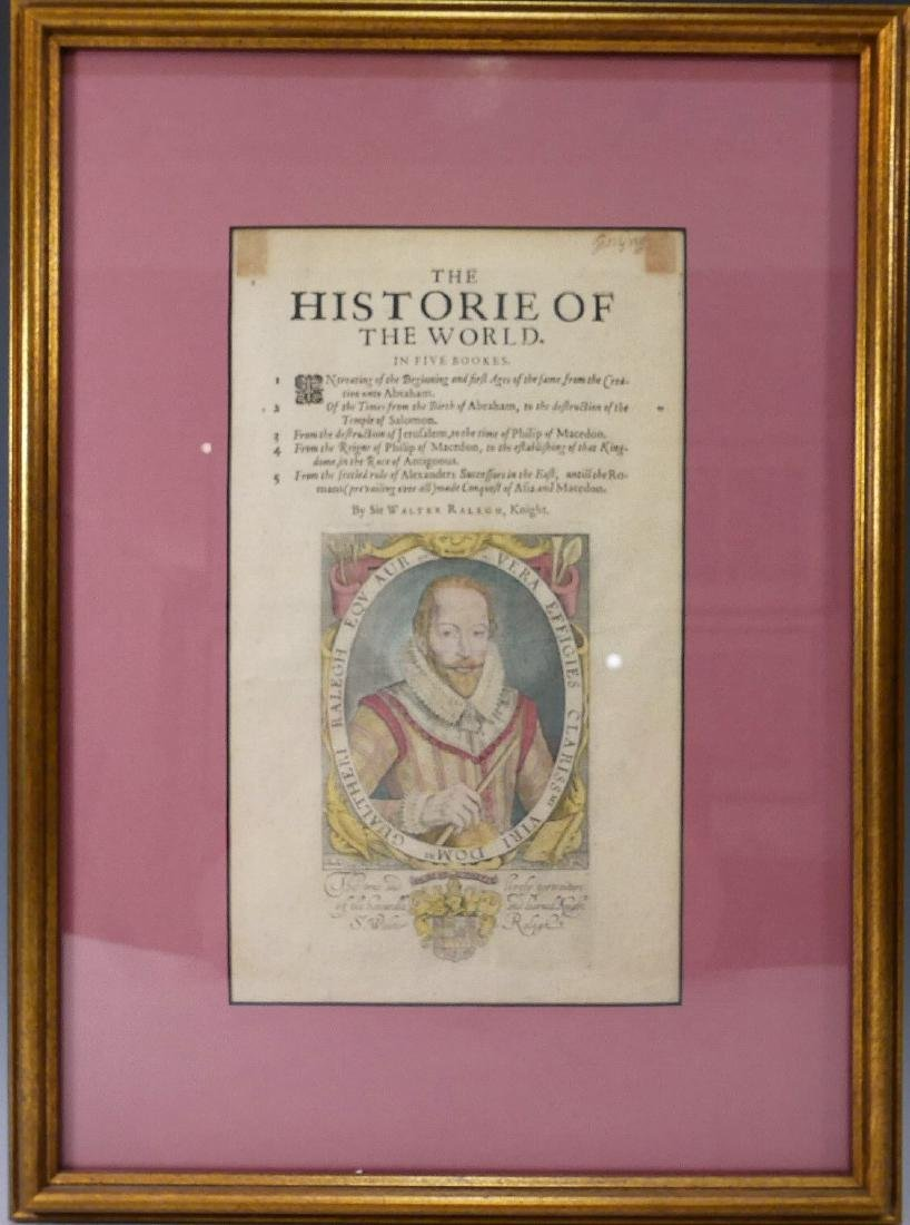 SIR WALTER RALEGH (ENGLISH, 1554 - 1618) HISTORY OF THE