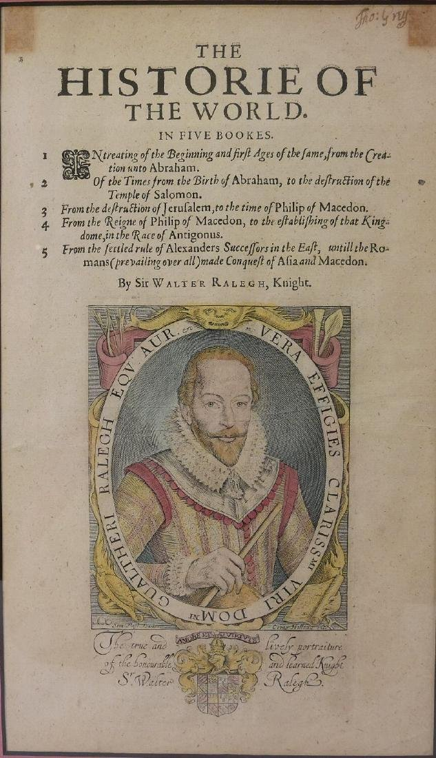 SIR WALTER RALEGH (ENGLISH, 1554 - 1618) HISTORY OF THE - 2