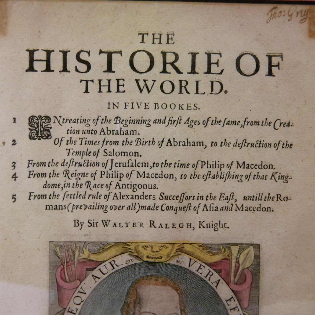SIR WALTER RALEGH (ENGLISH, 1554 - 1618) HISTORY OF THE - 4