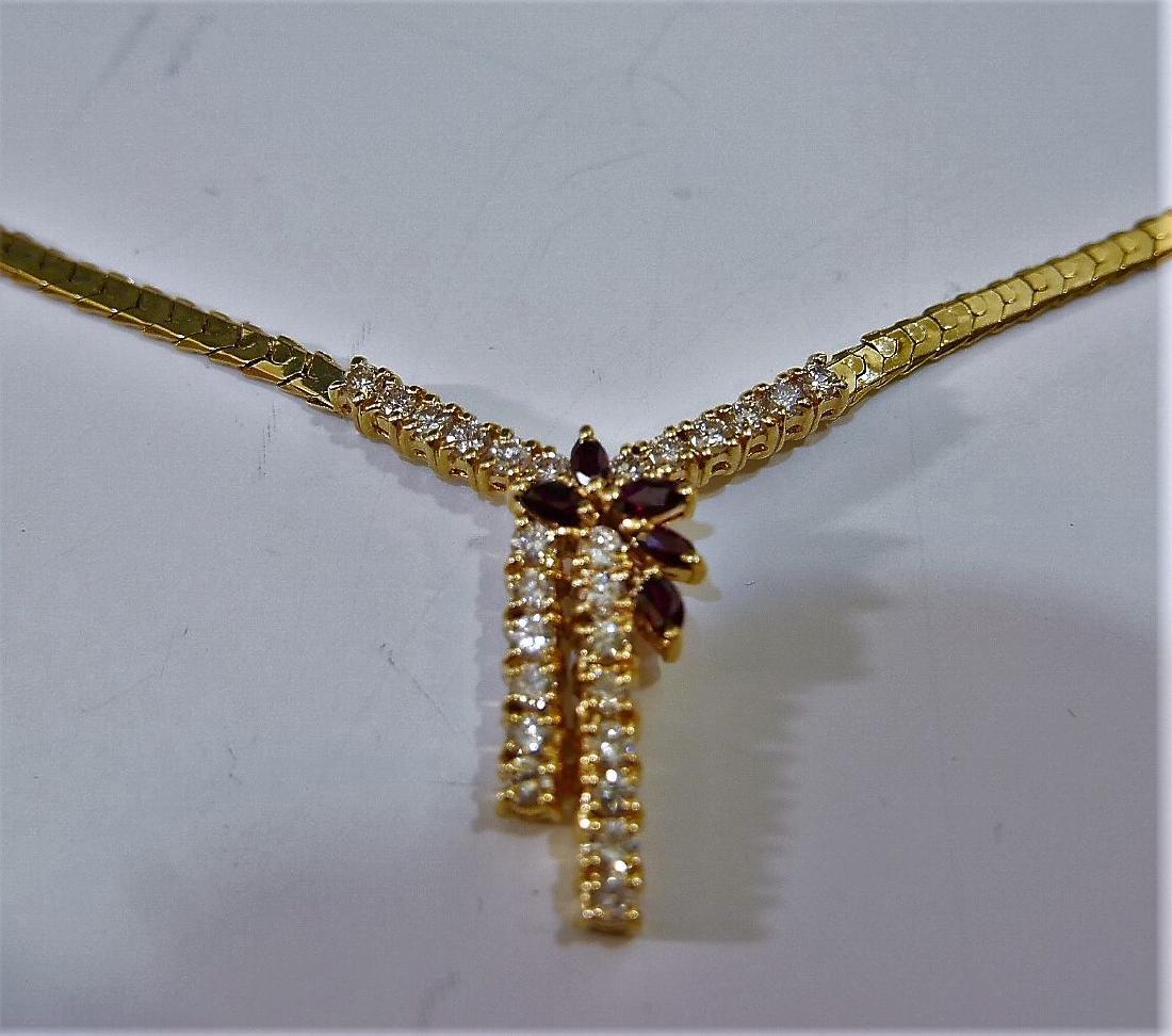 14K GOLD DIAMOND NECKLACE 15G